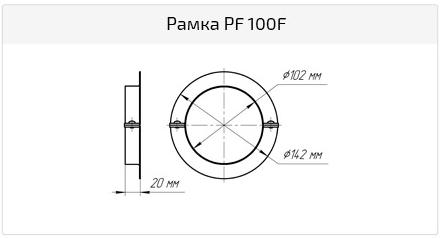 Рамка PFC 100 F