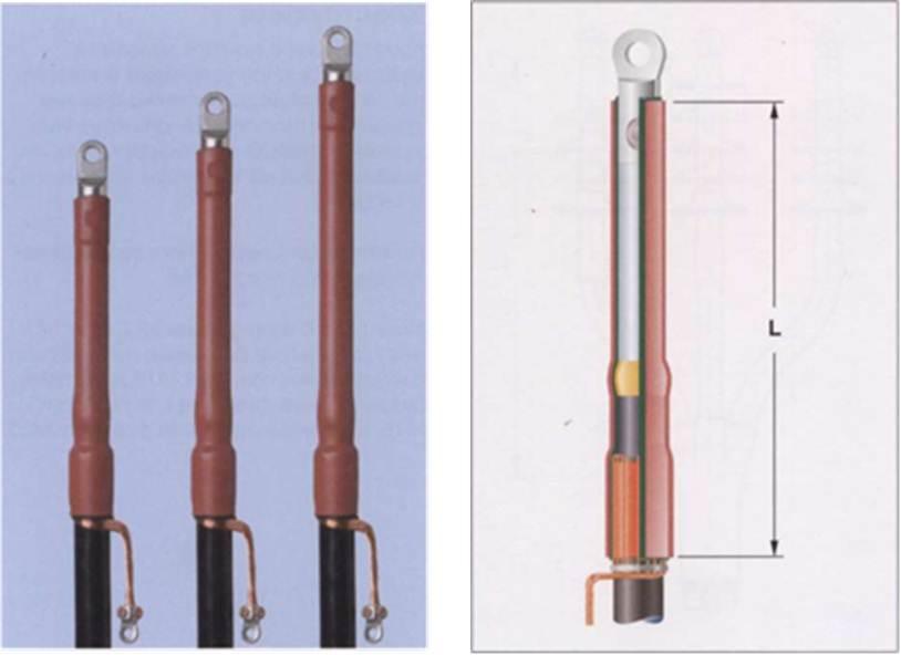 Концевые муфты для экранированных одножильных кабелей с пластмассовой изоляцией на напряжение 10, 20 и 35 кВ