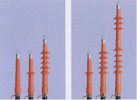 Эластомерные натяжные концевые муфты для экранированных одножильных кабелей с пластмассовой изоляцией на напряжение 10, 20 и 35 кВ