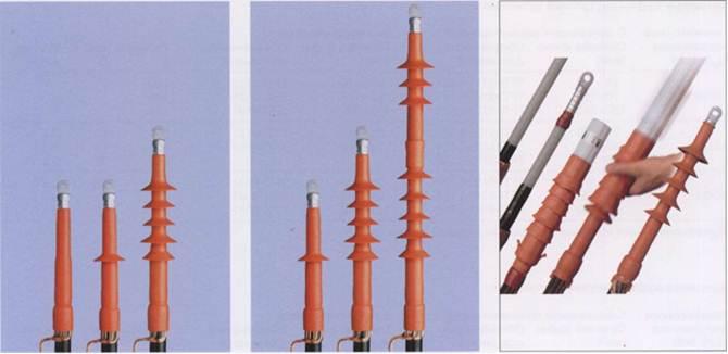 Эластомерные предрастянутые концевые муфты для экранированных одножильных кабелей с пластмассовой изоляцией на напряжение 10, 20 и 35 кВ