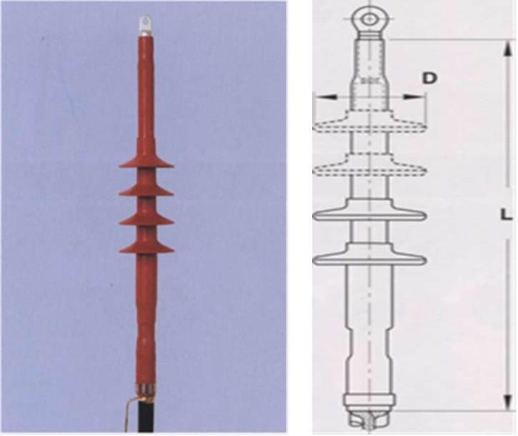 Концевая муфта для кабелей с пластмассовой изоляцией для электрифицированных железных дорог на напряжение 27 кВ