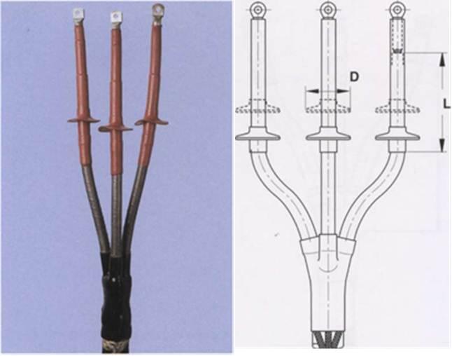 Концевые муфты для кабелей с бумажной ( MIND) изоляцией с жилами в отдельных оболочках на напряжение 10, 20 и 35 кВ